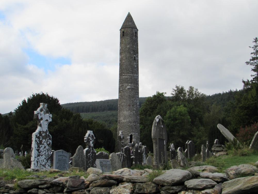 St. Kevin's monastic ruins in Glendalough