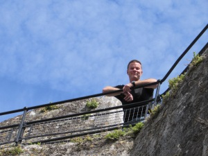 Blarney Castle looking at me from the top