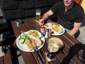 Tasty lunch at The Spaniard in Kinsale