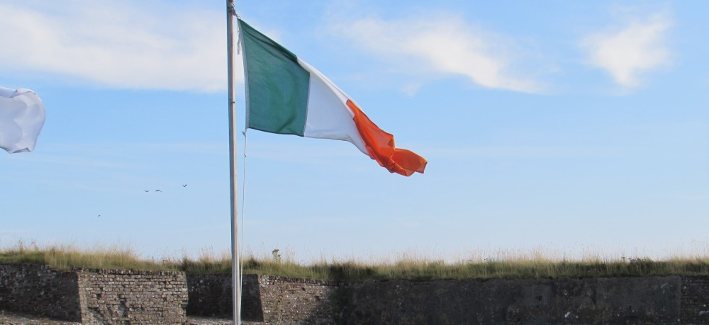 Irish Flag flying at Charles Fort